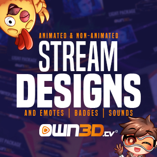 Stream Designs and Emotes from Own3d