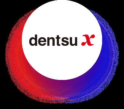 Logo: dentsu X