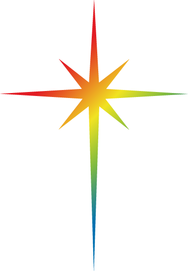 Star icon filled in with a rainbow gradient