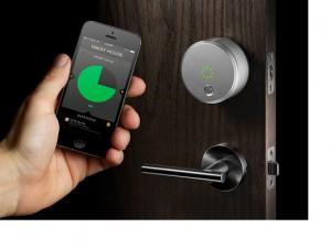 Smart phone accessible door locks.