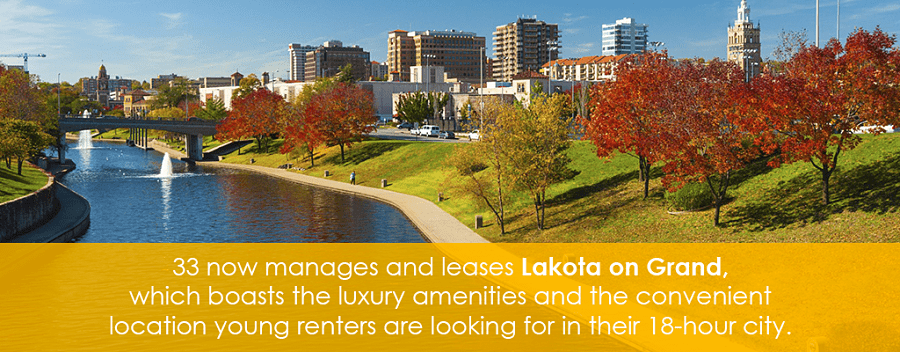 33 now manages and leases Lakota on Grand