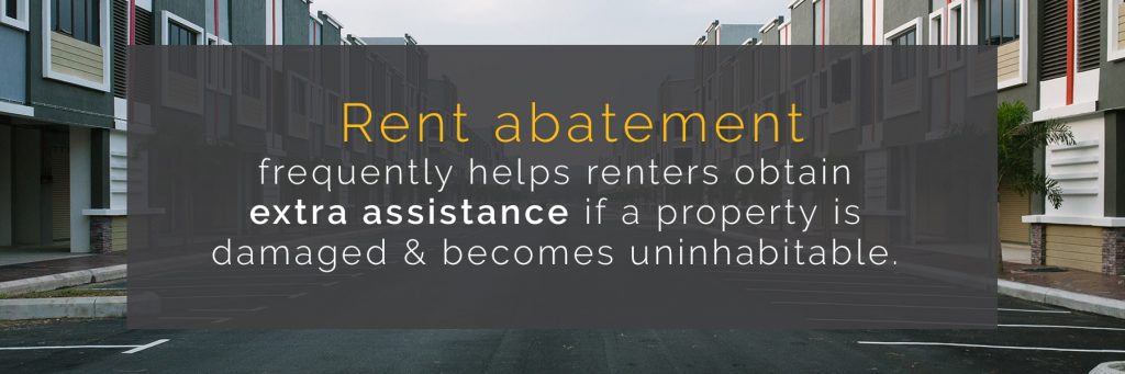 rent abatement gives extra assistance