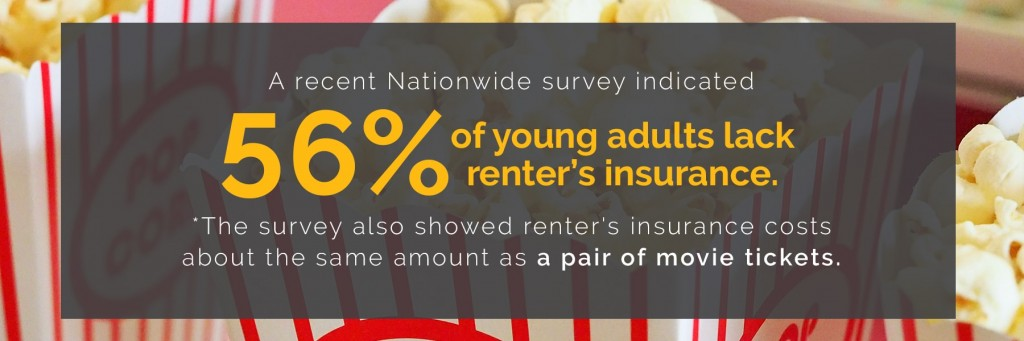 56% of young adults lack renter's insurance