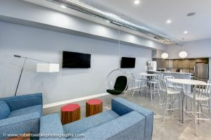 inside lounge area in office building