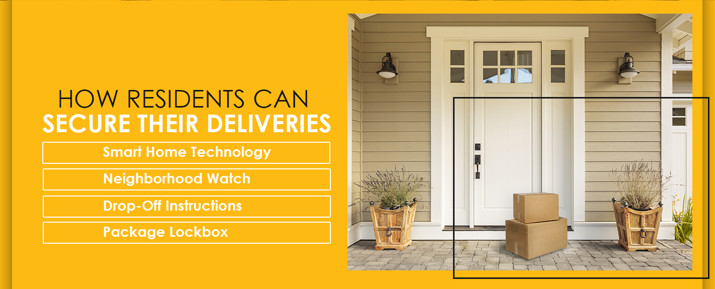 how residents can secure deliveries