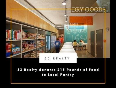 33 Realty donates 215 Pounds of Food to Local Pantry