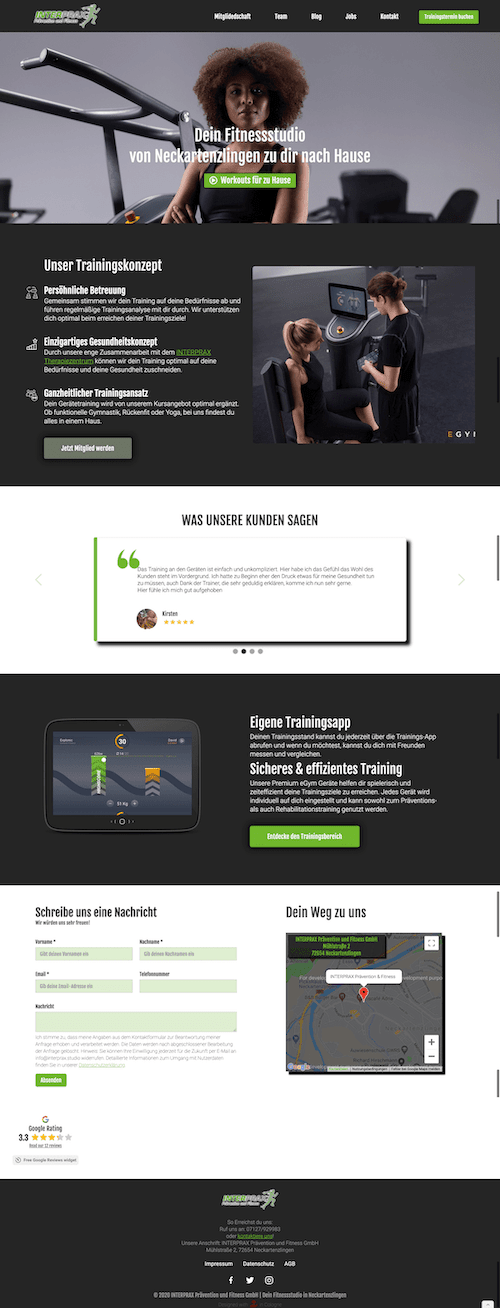 Webdesign Referenz INTERPRAX