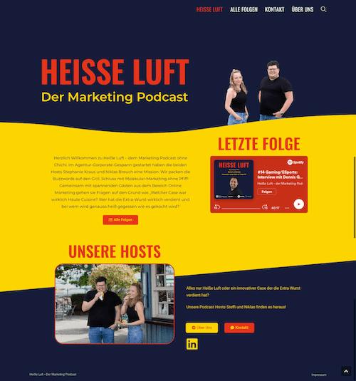 Webdesign Referenz Heisse Luft Podcast