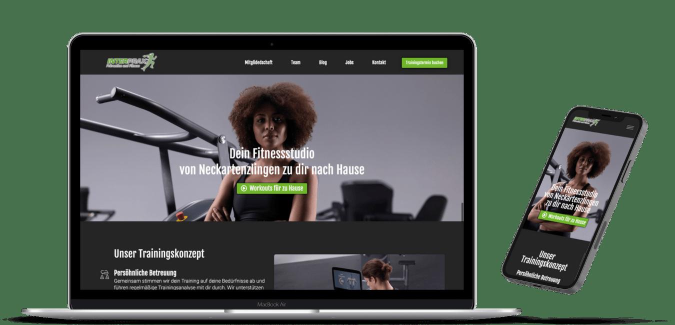 Laptop and Smartphone Displays Webdesign