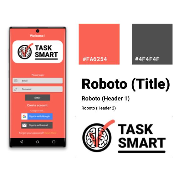 Visual design elements for task smart