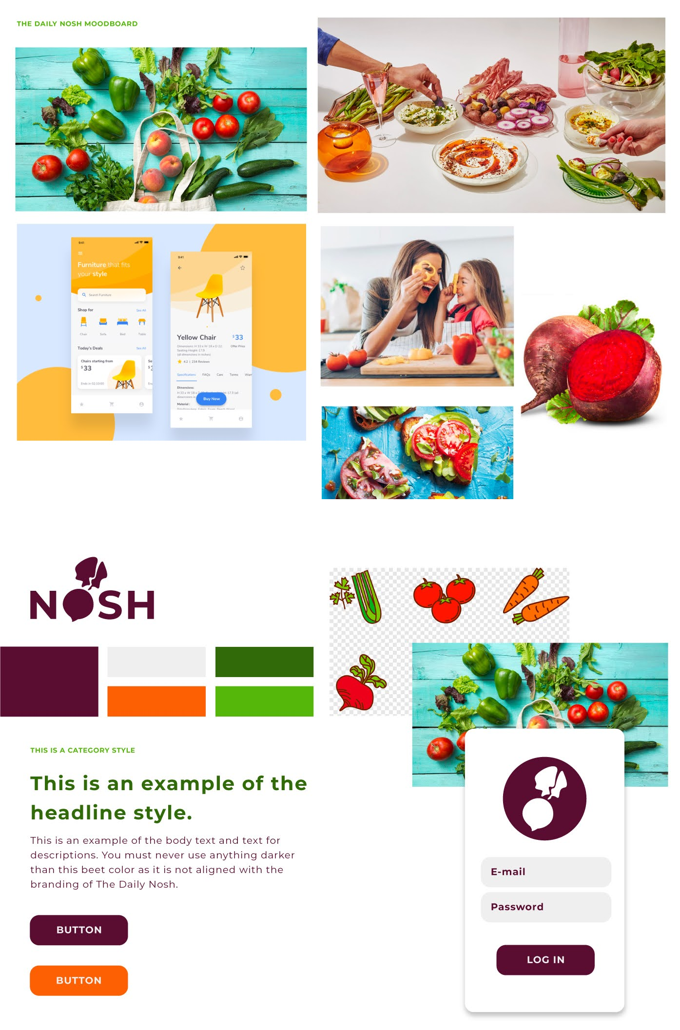 Daily Nosh mood board