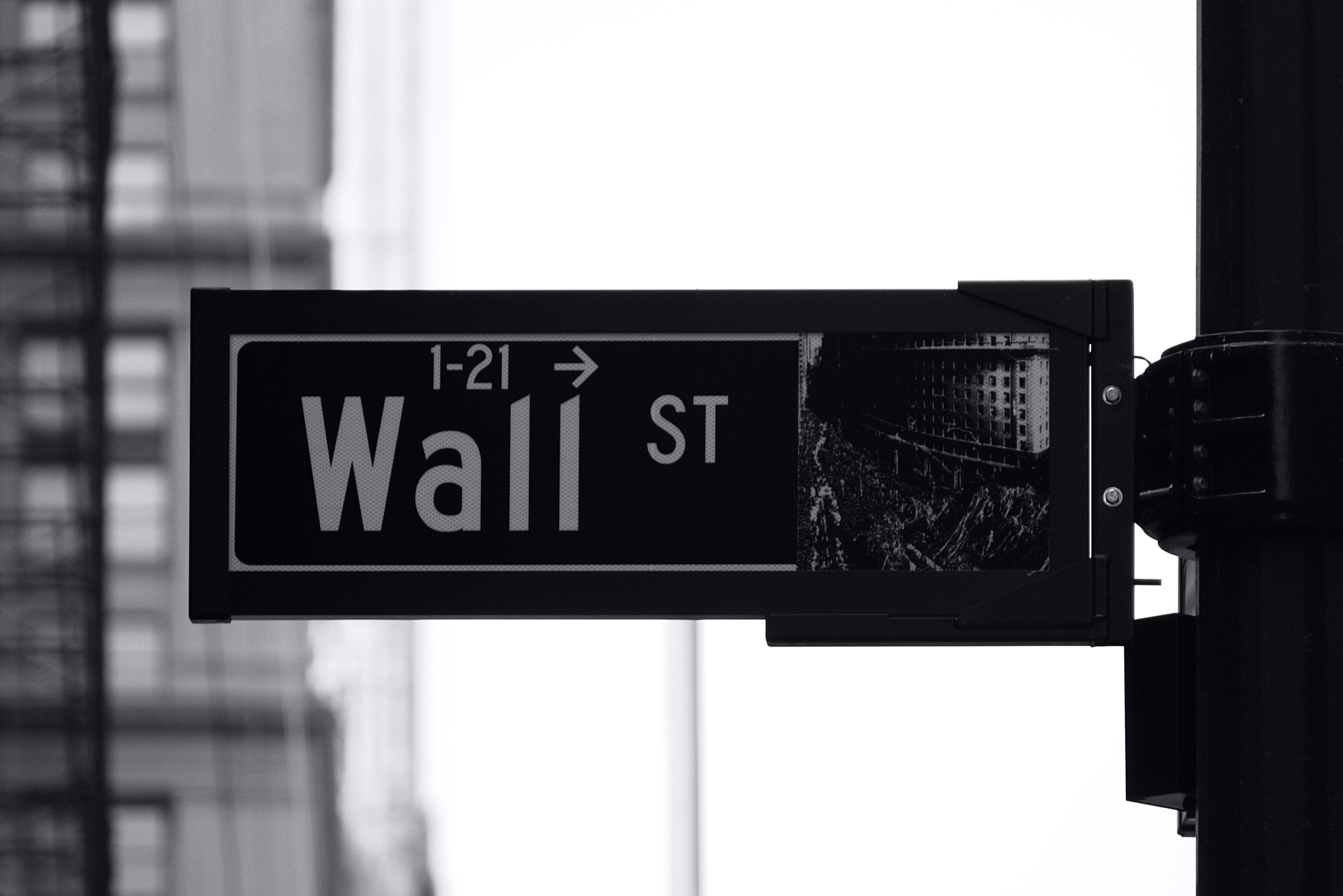 Wall Street street sign