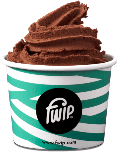 cup of chocolate flavour ice cream