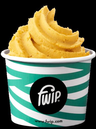 cup of mango flavour ice cream