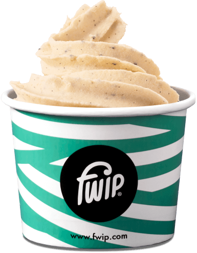cup of vanilla flavour ice cream
