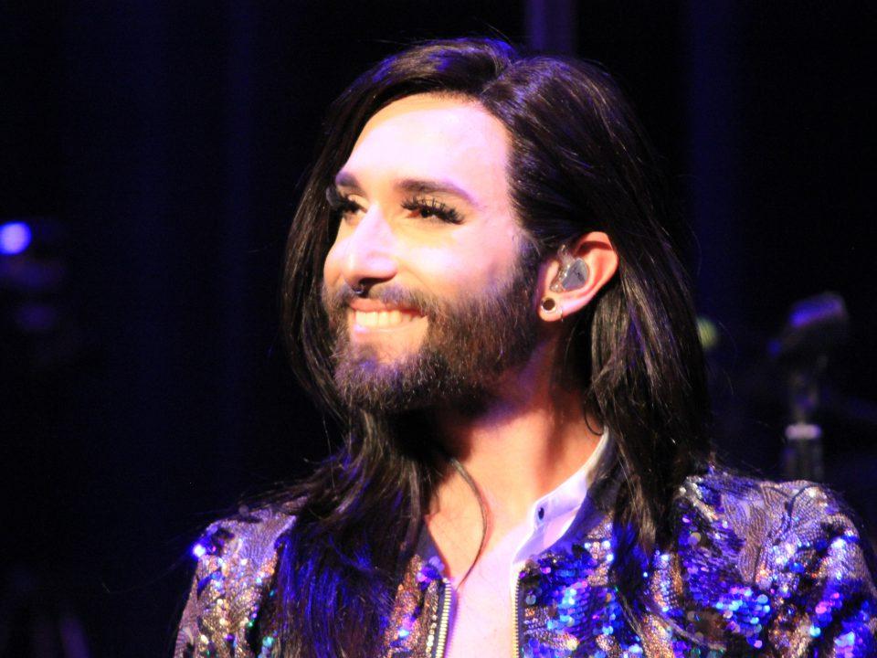 """Singer """"Conchita Wurst"""" on stage"""