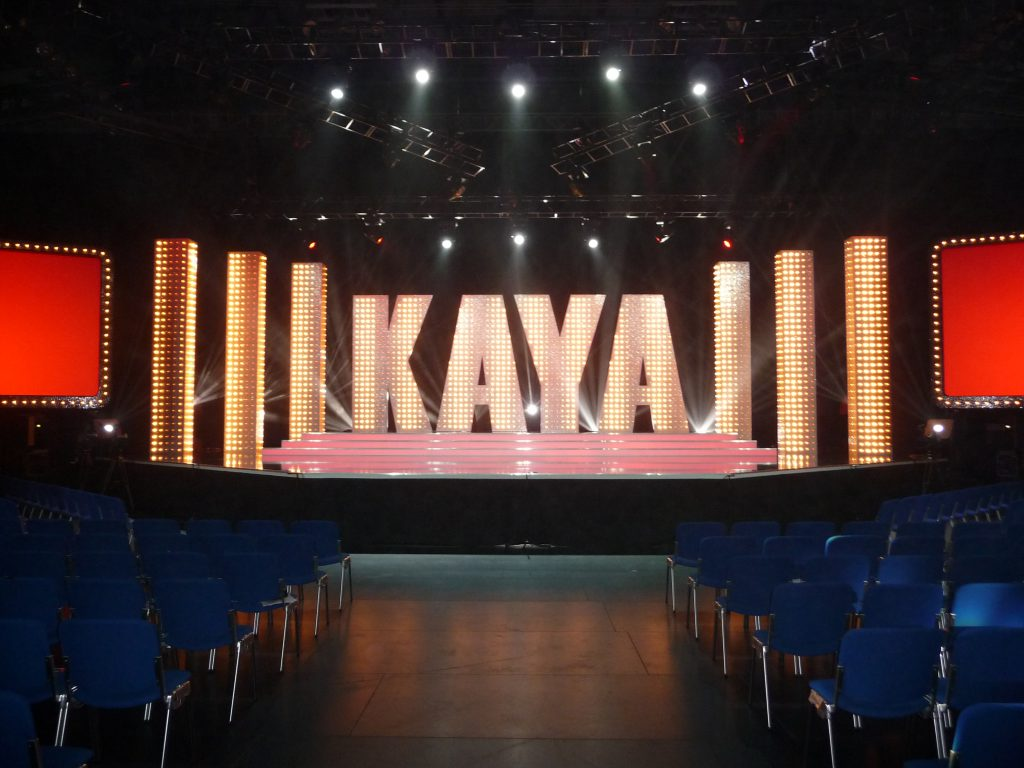 """Stage for the comedy show """"Kaya Yanar"""""""