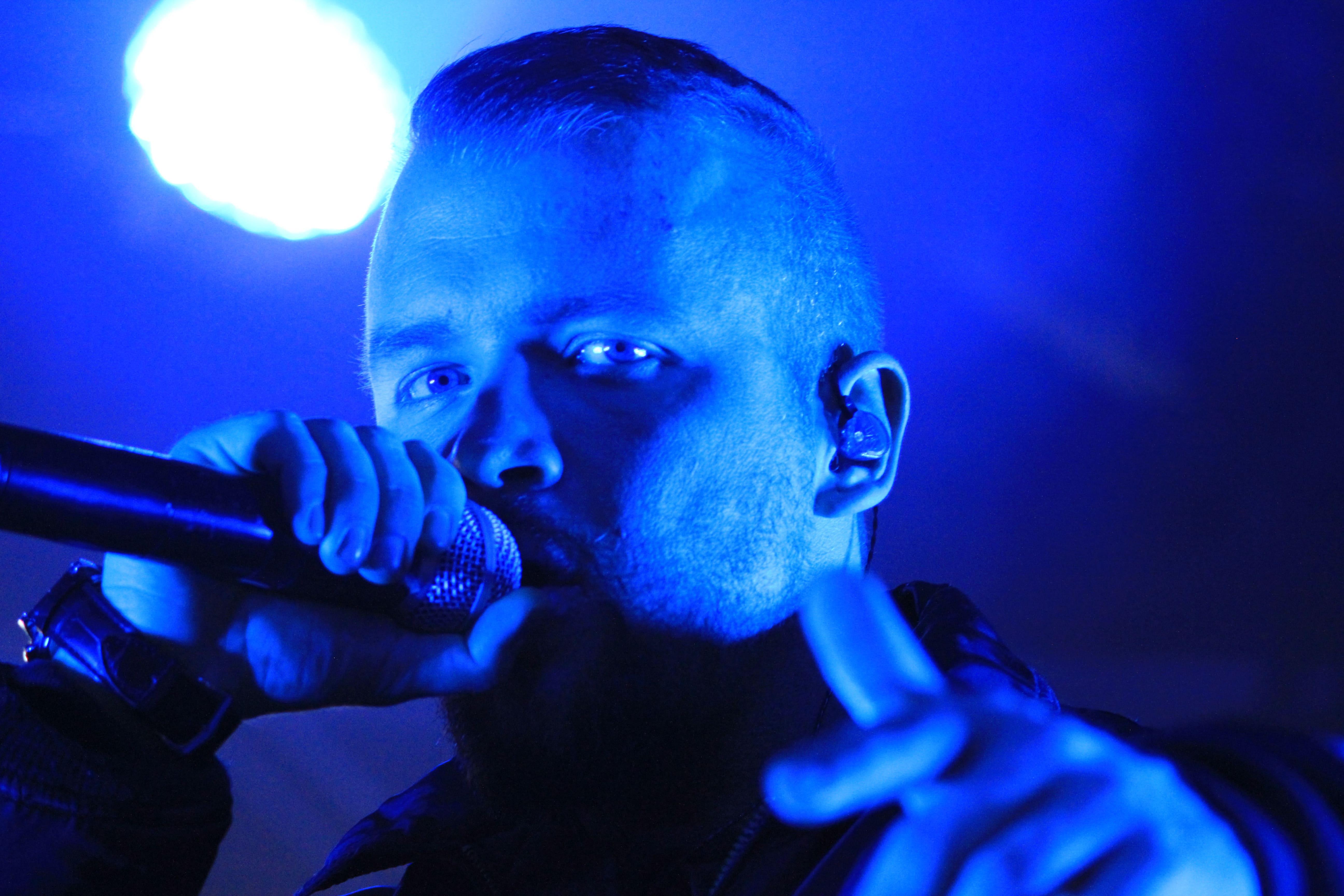 """German Rapper """"Kollegah"""" on stage"""