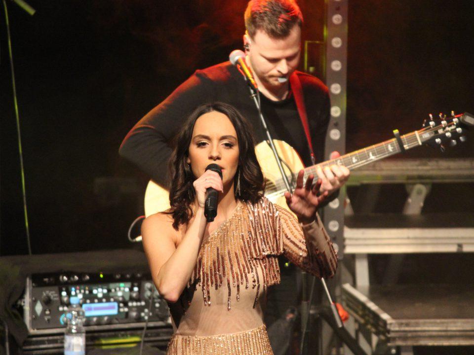 "Singer ""Jenny Marsala"" on stage"