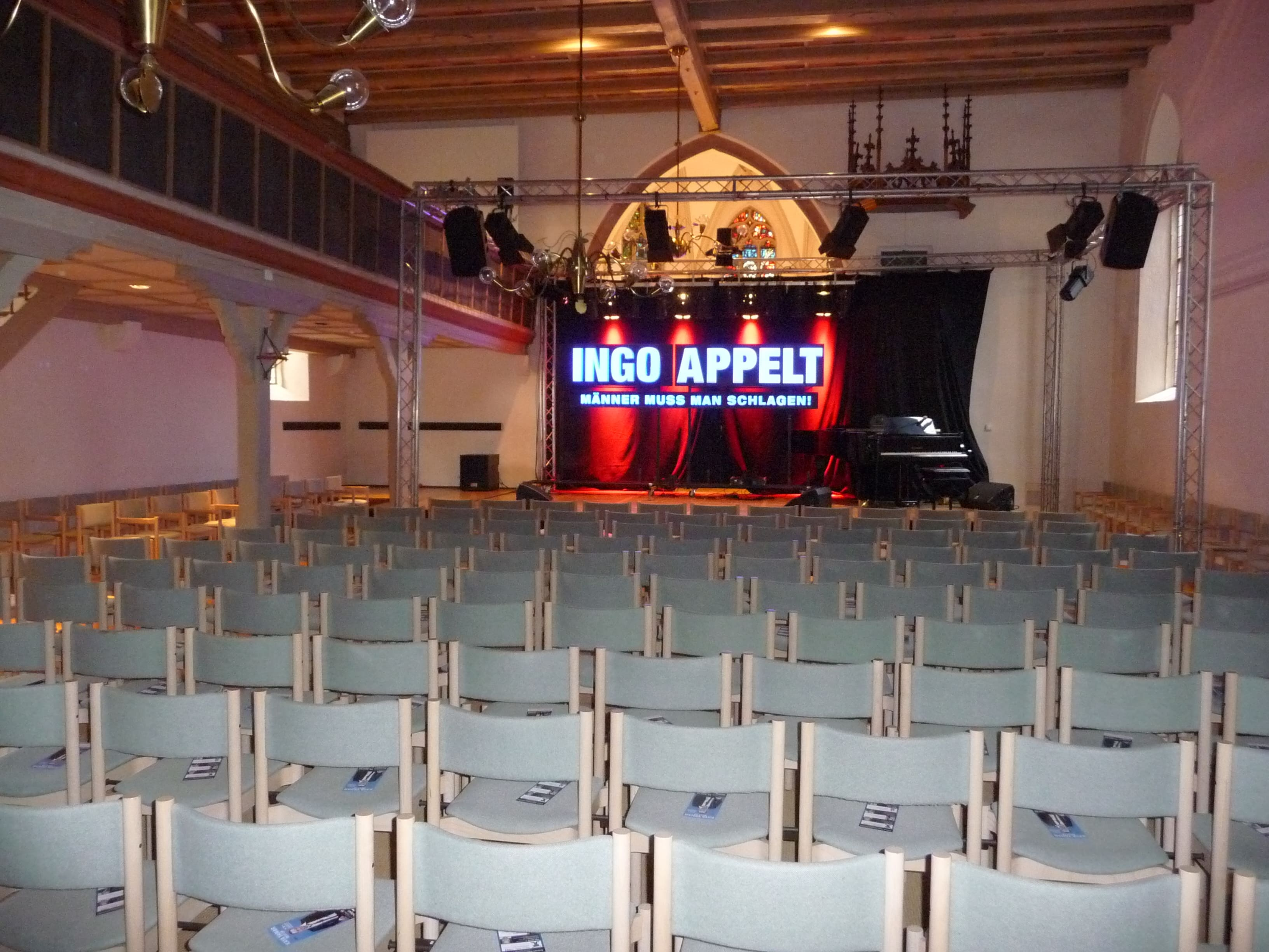 """Stage for the comedy show """"Ingo Appelt"""""""