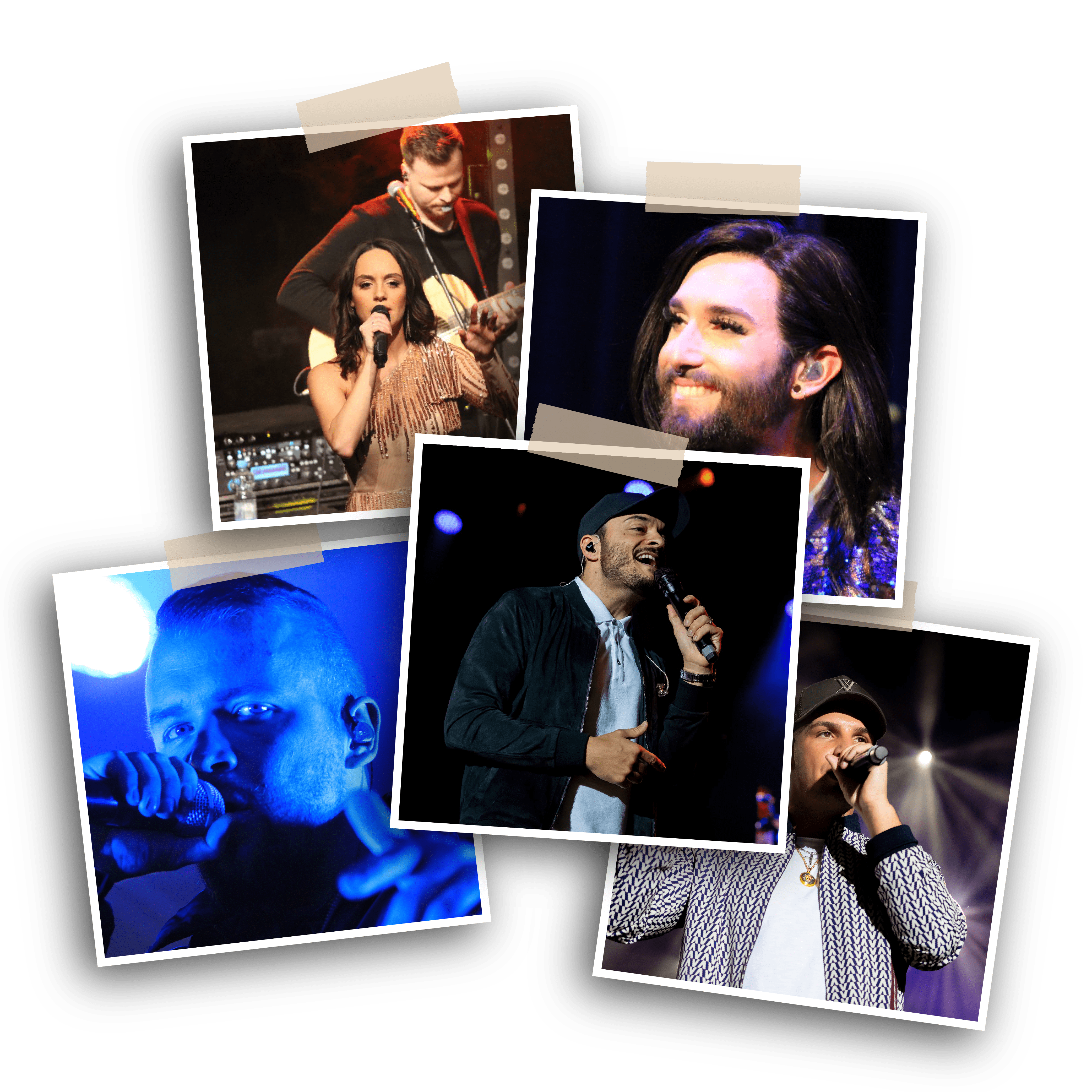 image collage of different shows and events