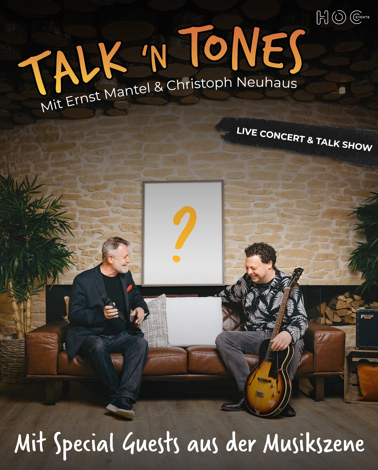 """event poster for the event """"Talk N' Tones"""""""