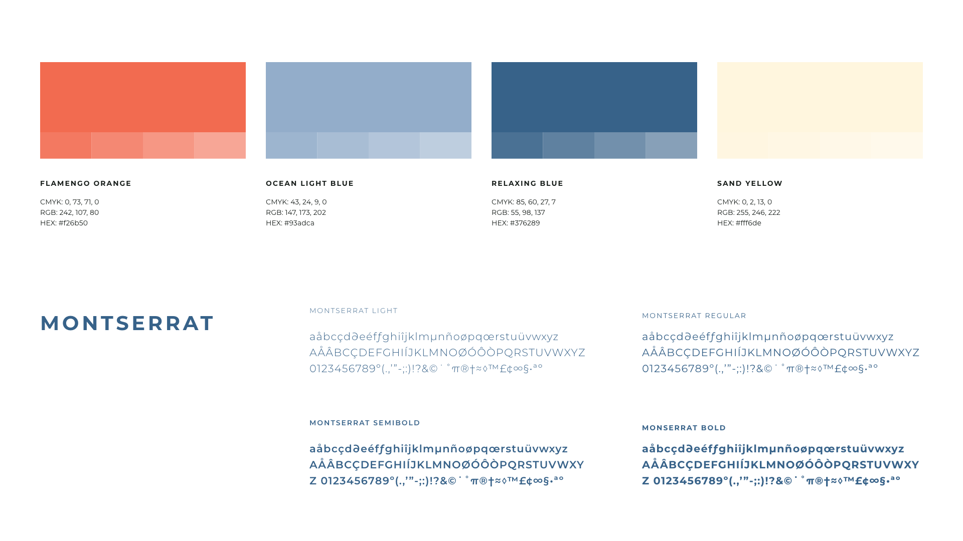 473.Agency - New Point Miami Visual ID - Typography and Color Code