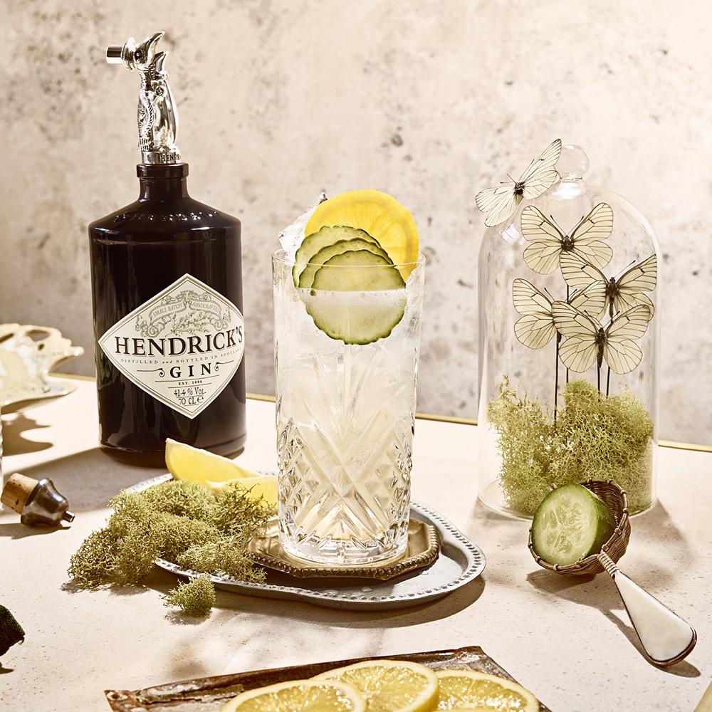 Hendrick's Cucumber lemonade