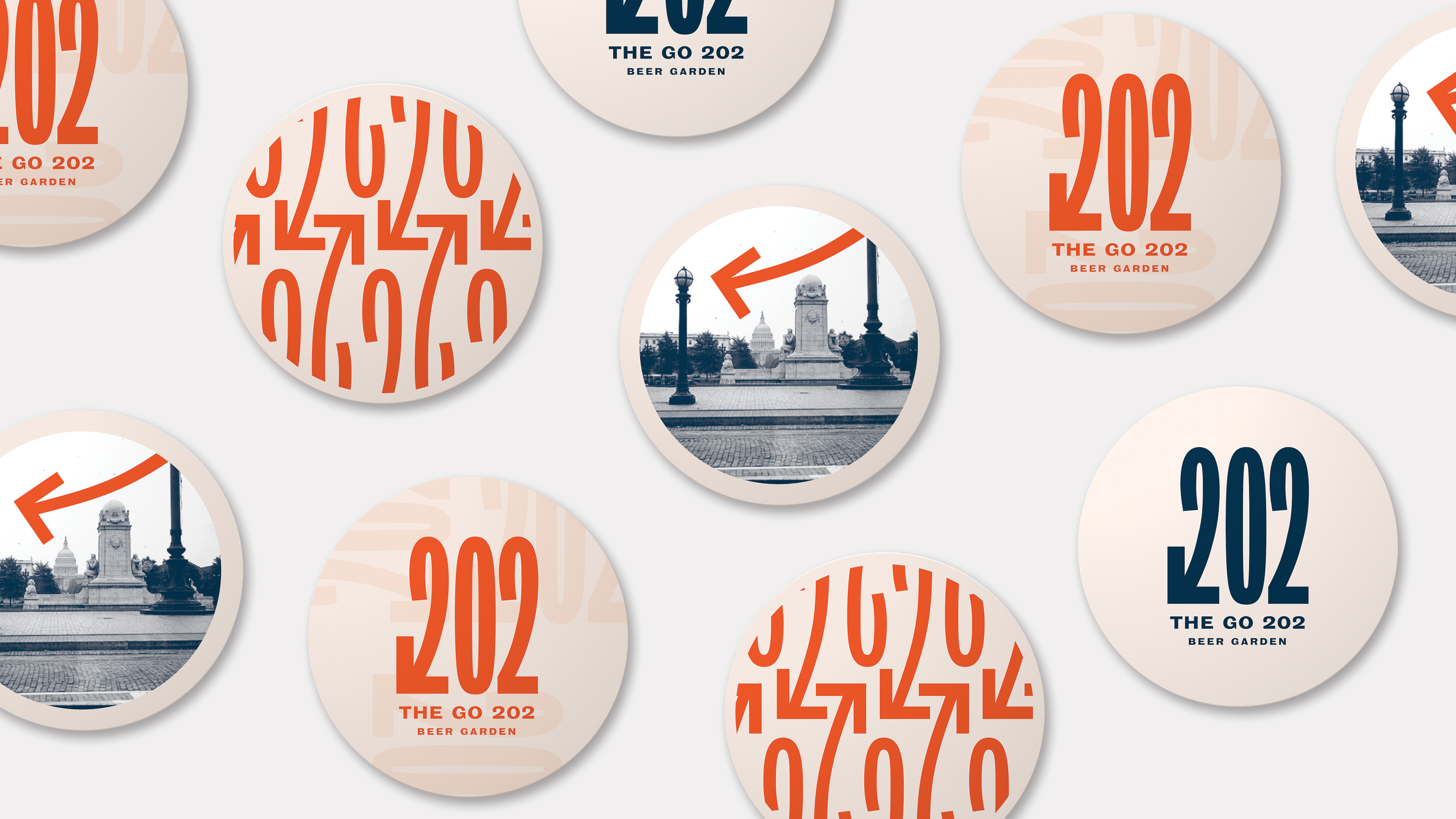 Coaster designs for sercing glasses