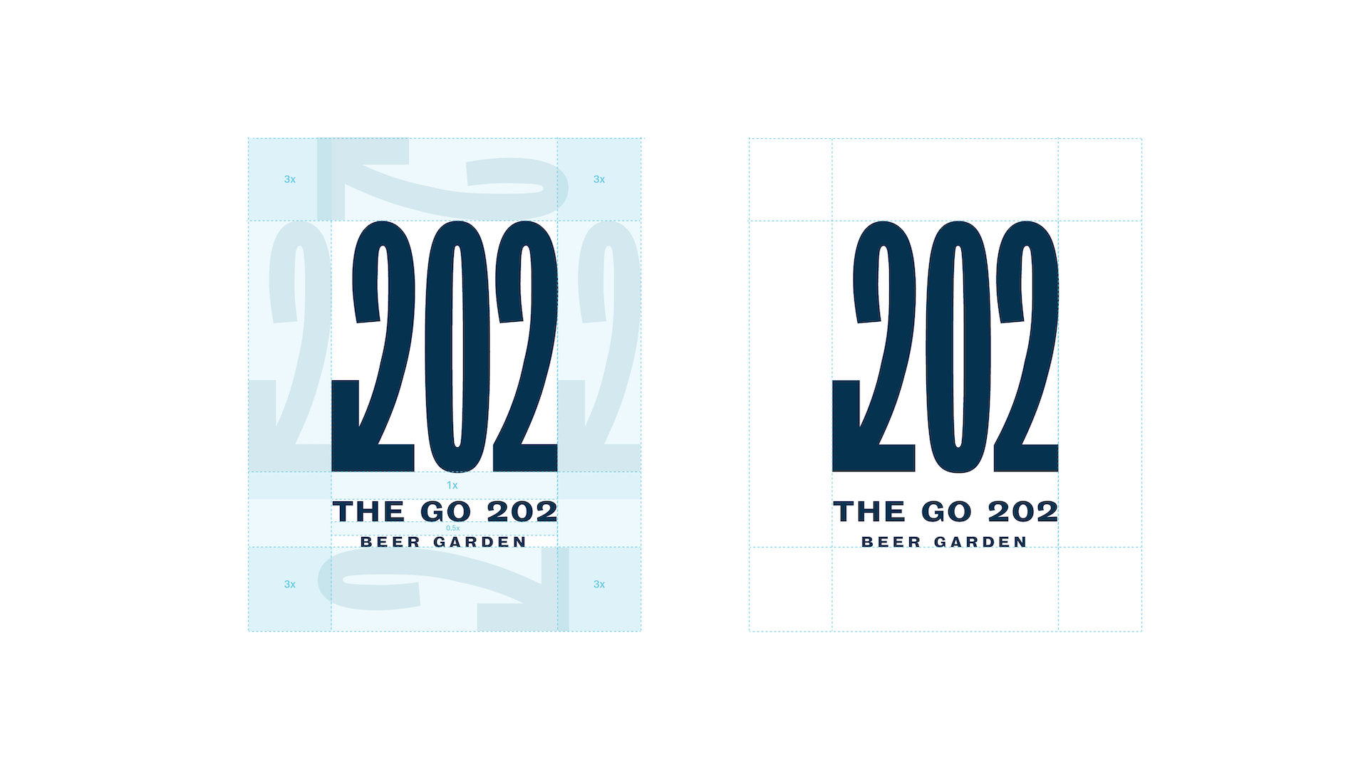 Spacing in and around the logo and its elements