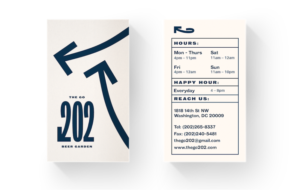 Transparent background mockup of business cards for The Go 202