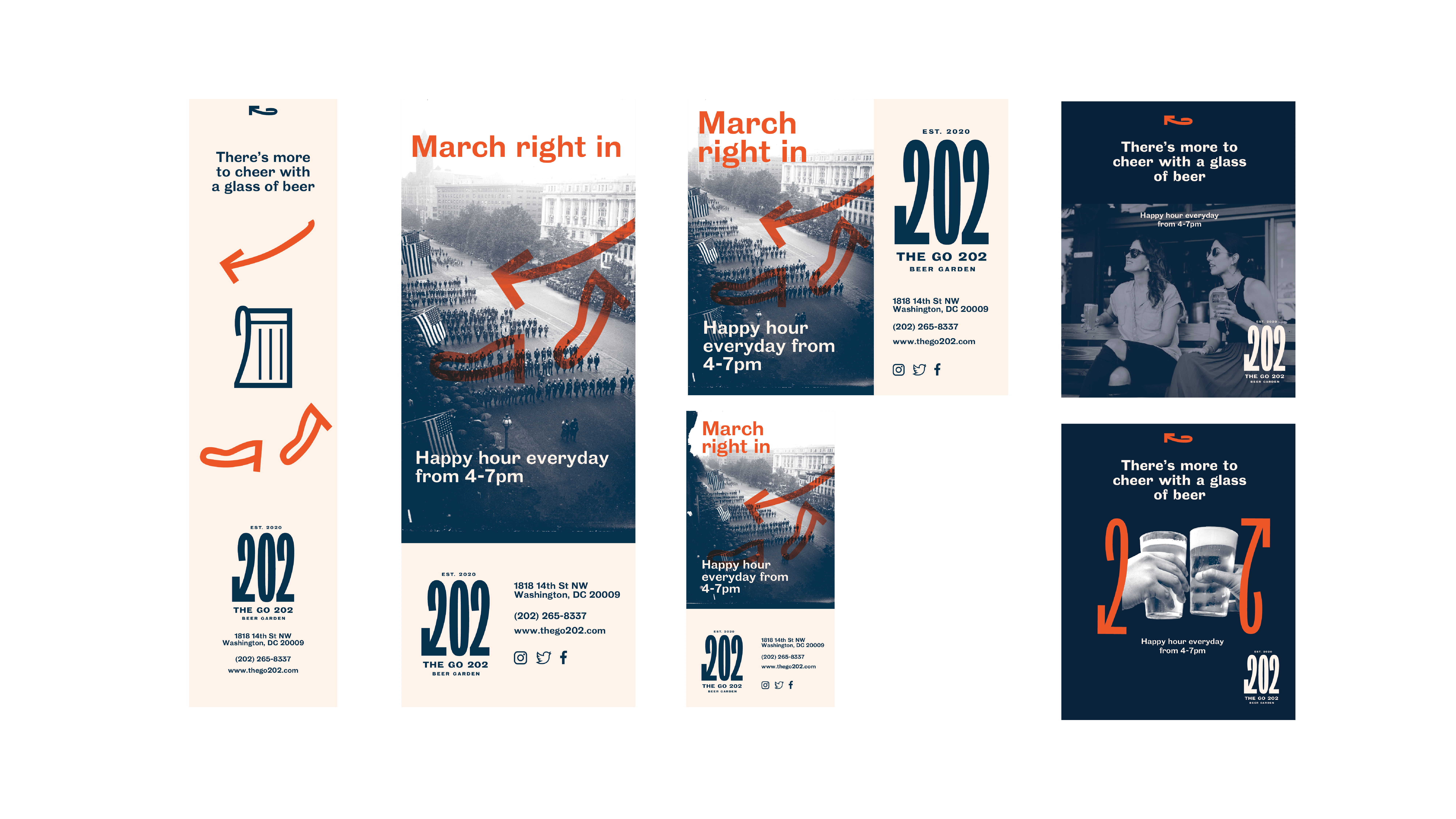 Varying formats and sizing advertising for The Go 202 in print