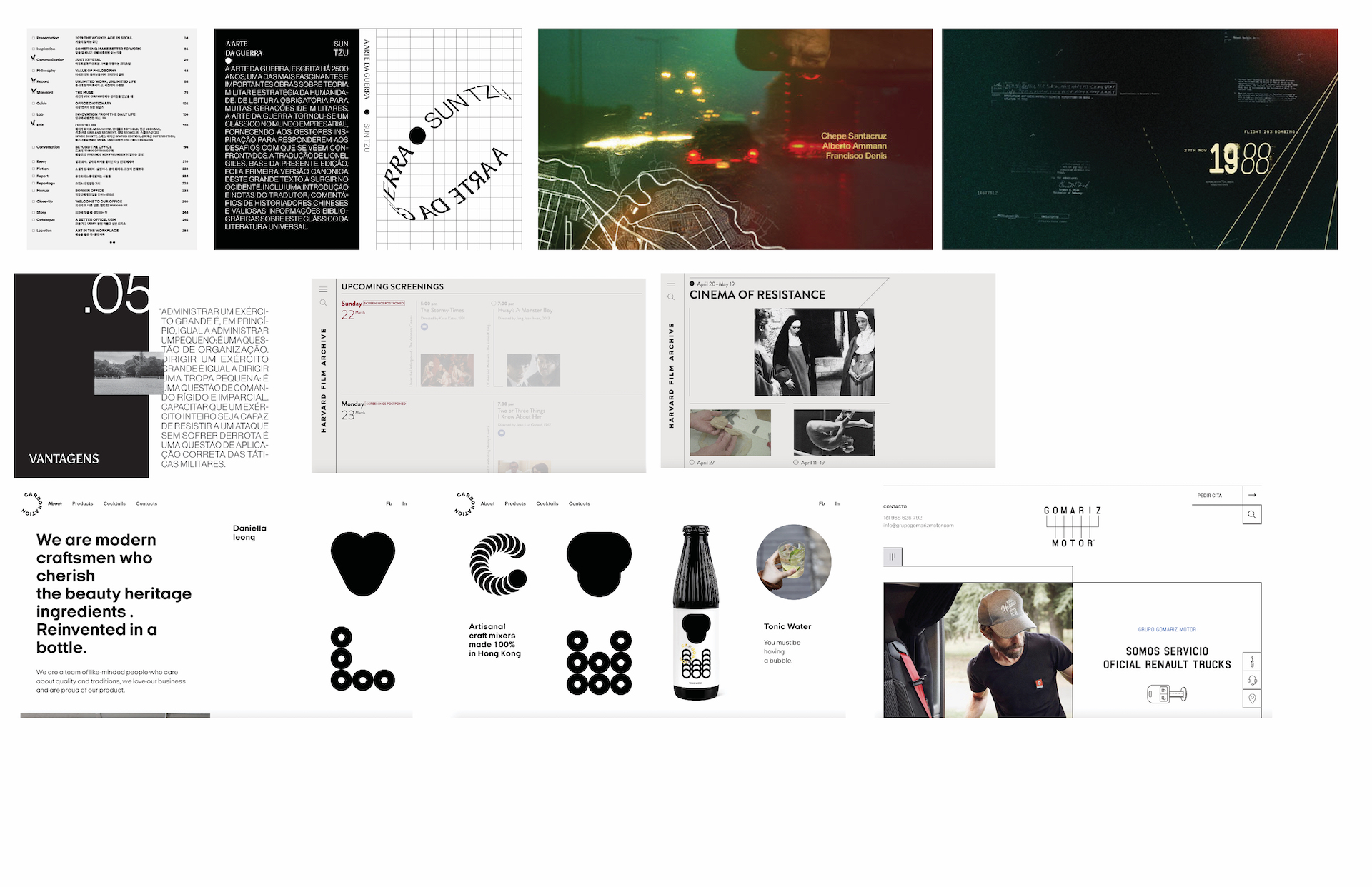 The moodboard was used to pull different kinds of aesthetics and webpage layouts