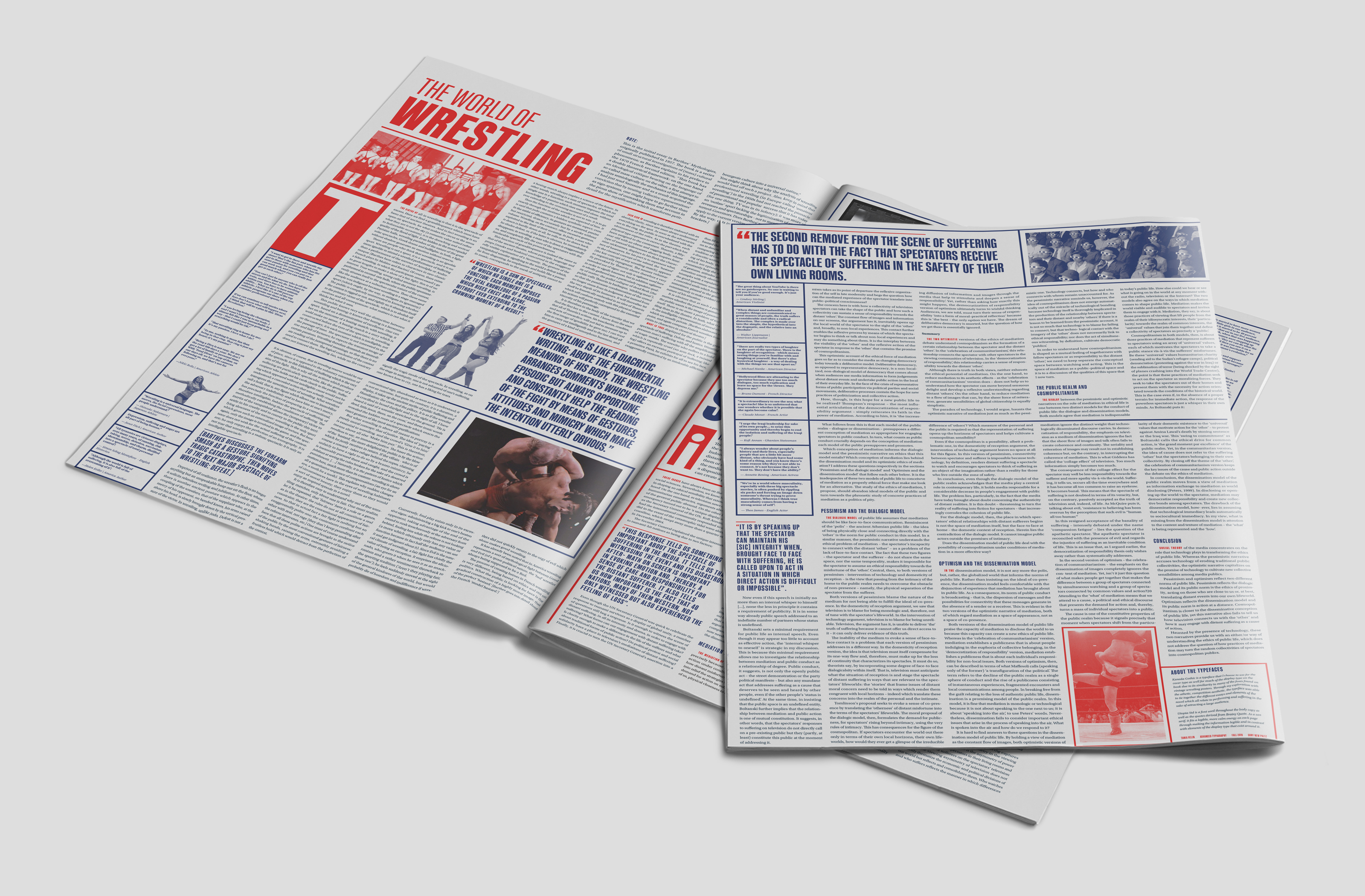 Newspaper mockup of the newspaper