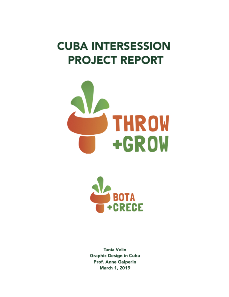Cover of the project report