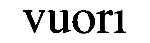 Logo for high end fitness apparel brand Vuori