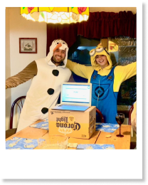 Chris and Amanda dressed up to present the FUN part of our end of the year review.