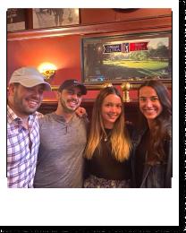 Chris, Mike, Amanda, and Jenny at their favorite bar in New York City!