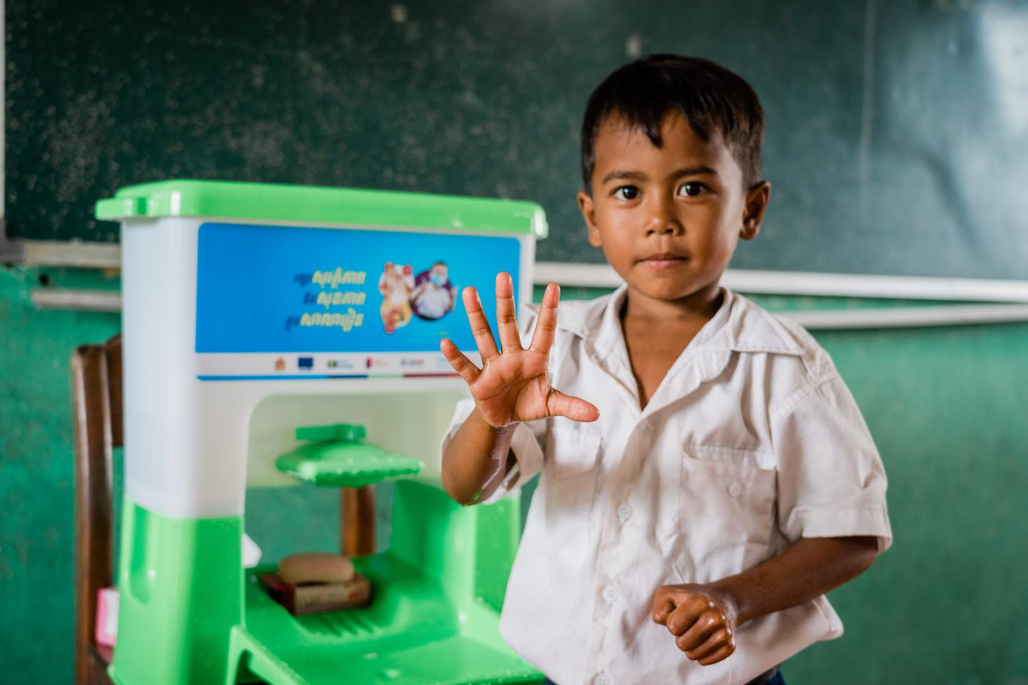 UNICEF Cambodia supports hand hygiene in schools