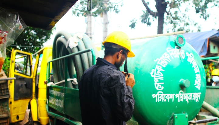 Impact enterprises collaborate with the public sector to provide sanitation services