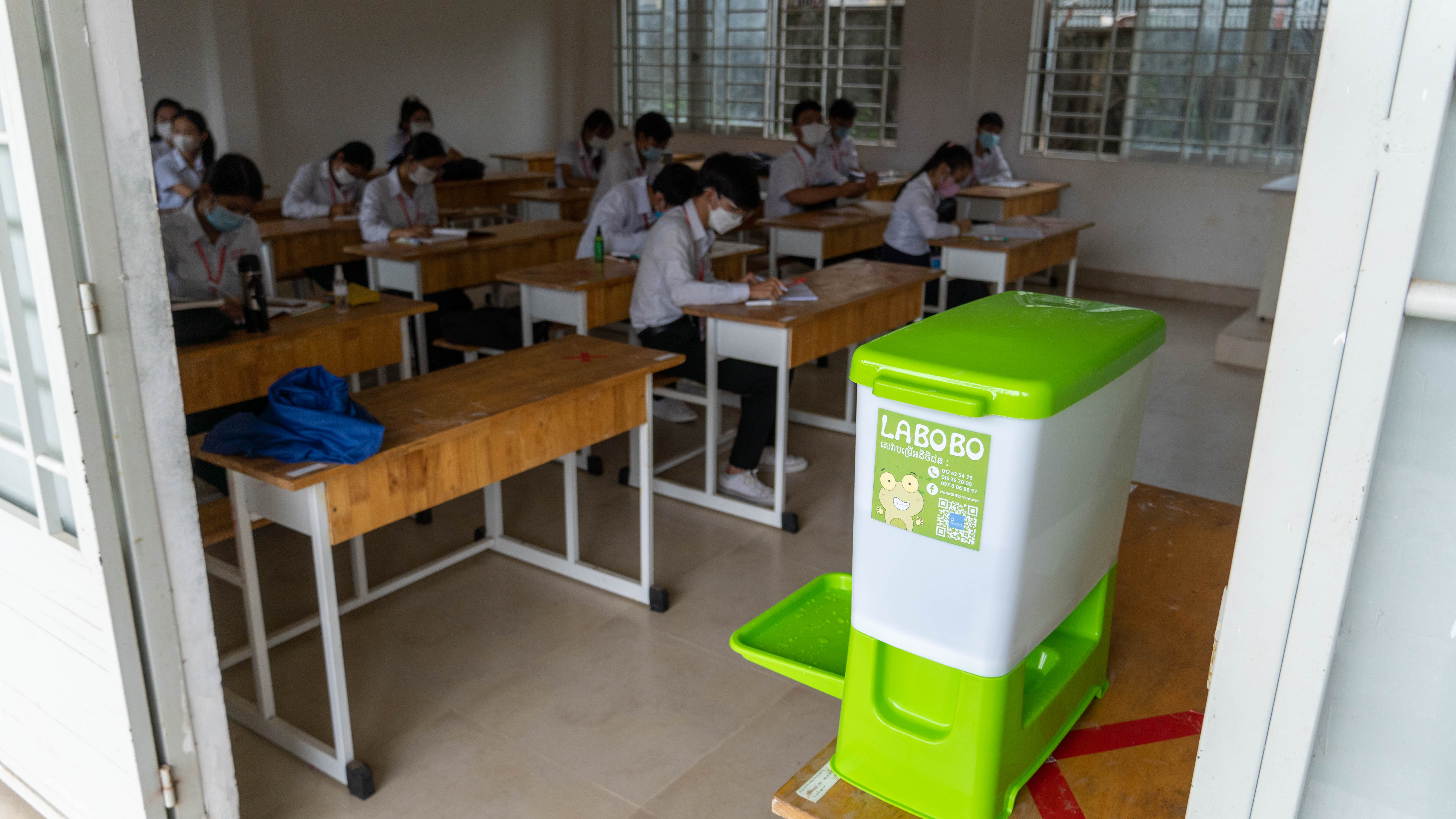 Cambodian schools pilot reopening in a new normal