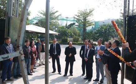 Đại diện chủ đầu tư chúc Tết công nhân công trường dự án Golden Park Cầu Giấy