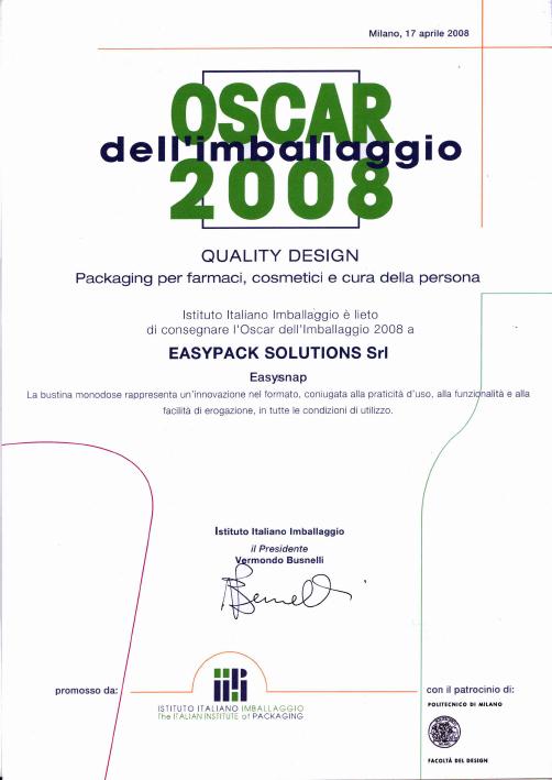 Worldstar Oscar 2008 Award