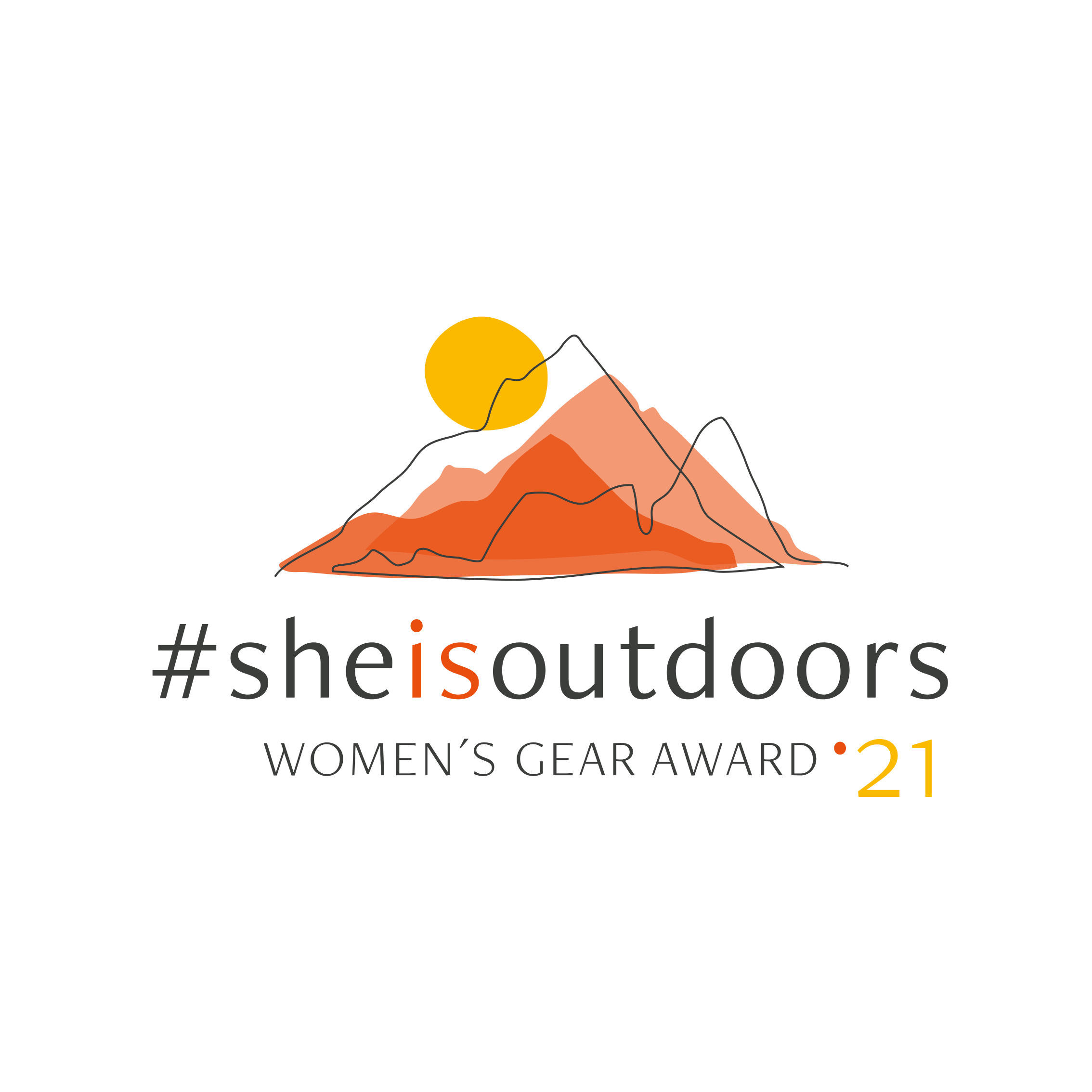 Logo she is outdoors summer 2021