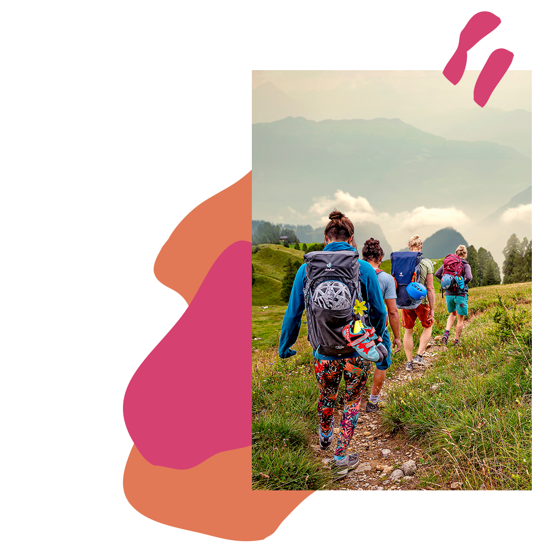 ©KontraPixel #she is outdoors – timeline – climbers hiking towards valley