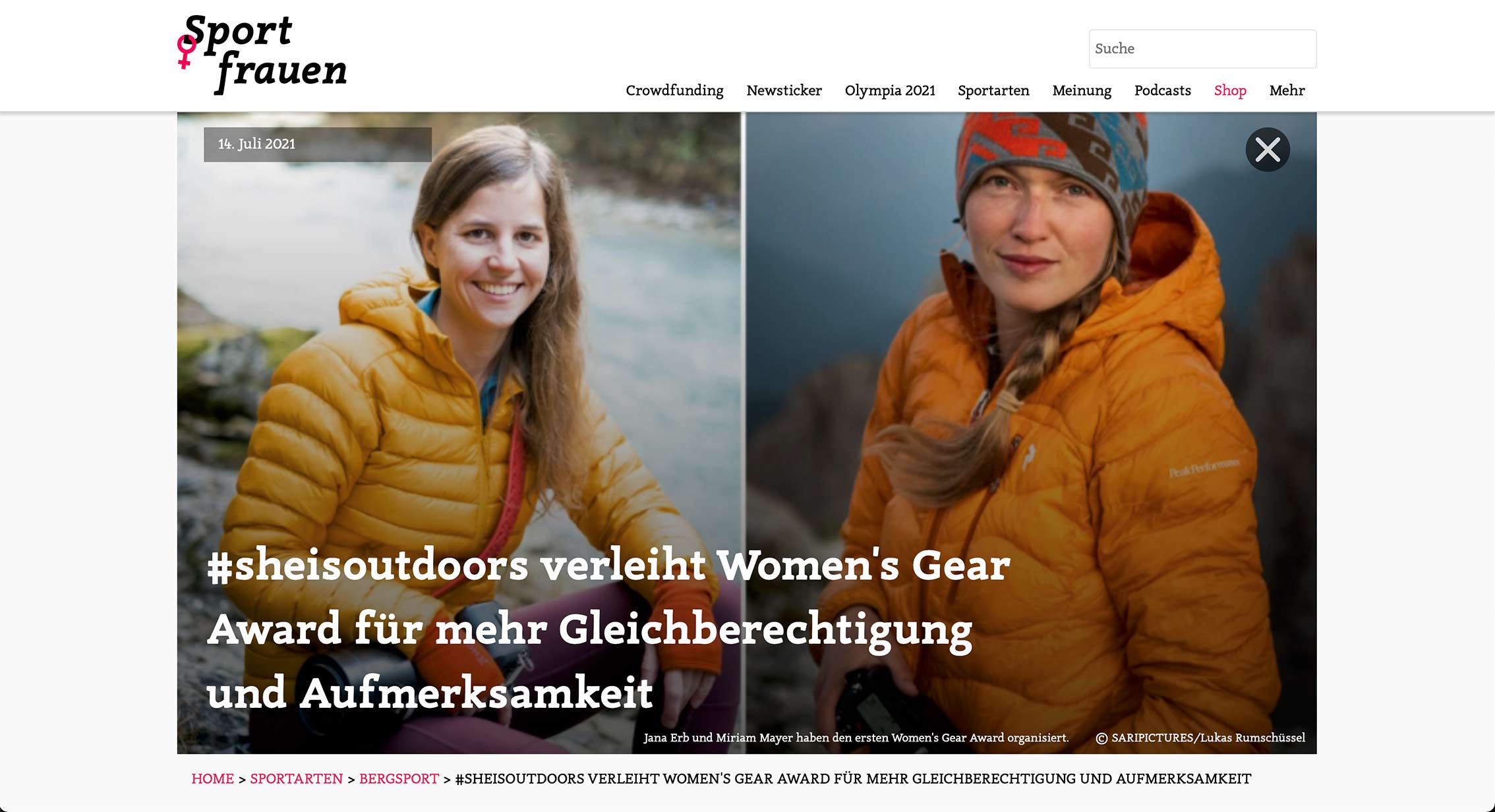 Tearsheet Sportfrauen