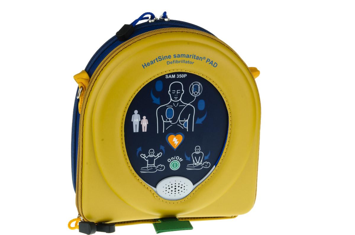 Heartsine Samaritan 350P Defibrillator with case and pads - semi-automatic