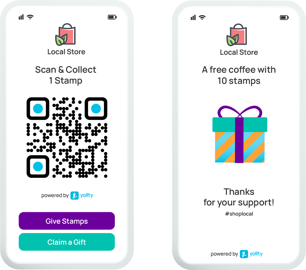 The Business app for Yollty to generate QR Codes