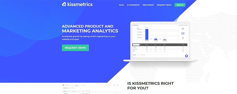 kiss metrics hero section