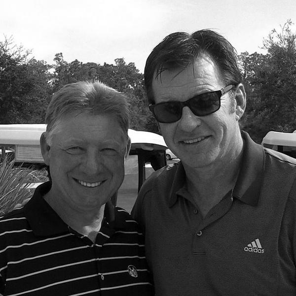 Nick Faldo with David Edwards